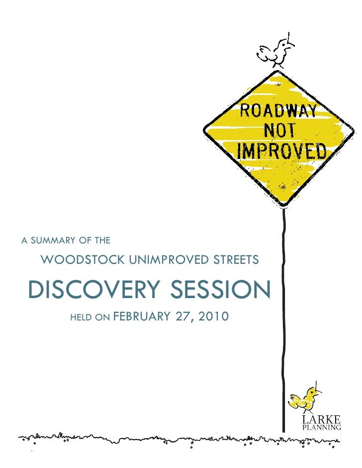 Discovery Session Report