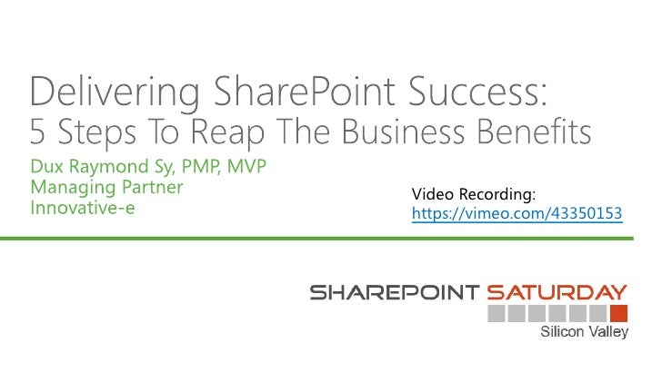 Deliver SharePoint Success: 5 Steps to Reap The Business benefits