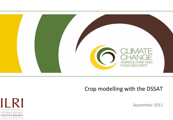 Crop modelling with the DSSAT                 September 2011