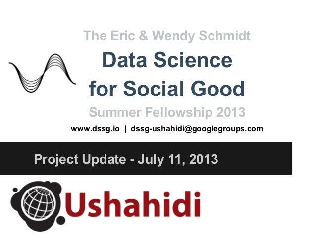 Data Science for Social Good and Ushahidi