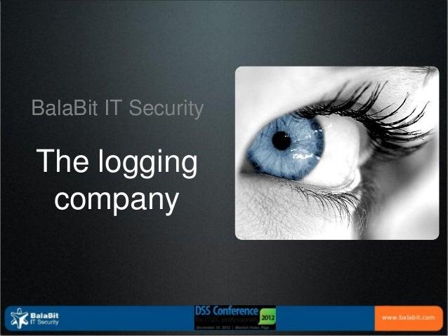 DSS ITSEC 2012 Balabit_Security_Shell_Control_Box & Logging