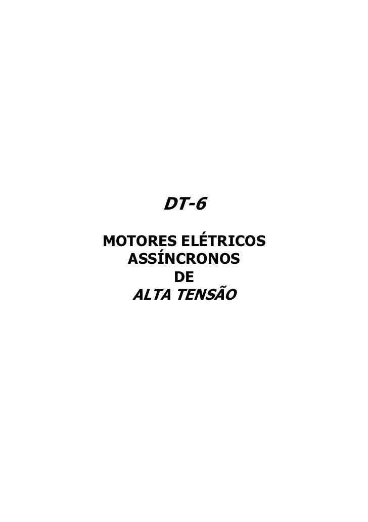 DT-6MOTORES ELÉTRICOS  ASSÍNCRONOS       DE   ALTA TENSÃO