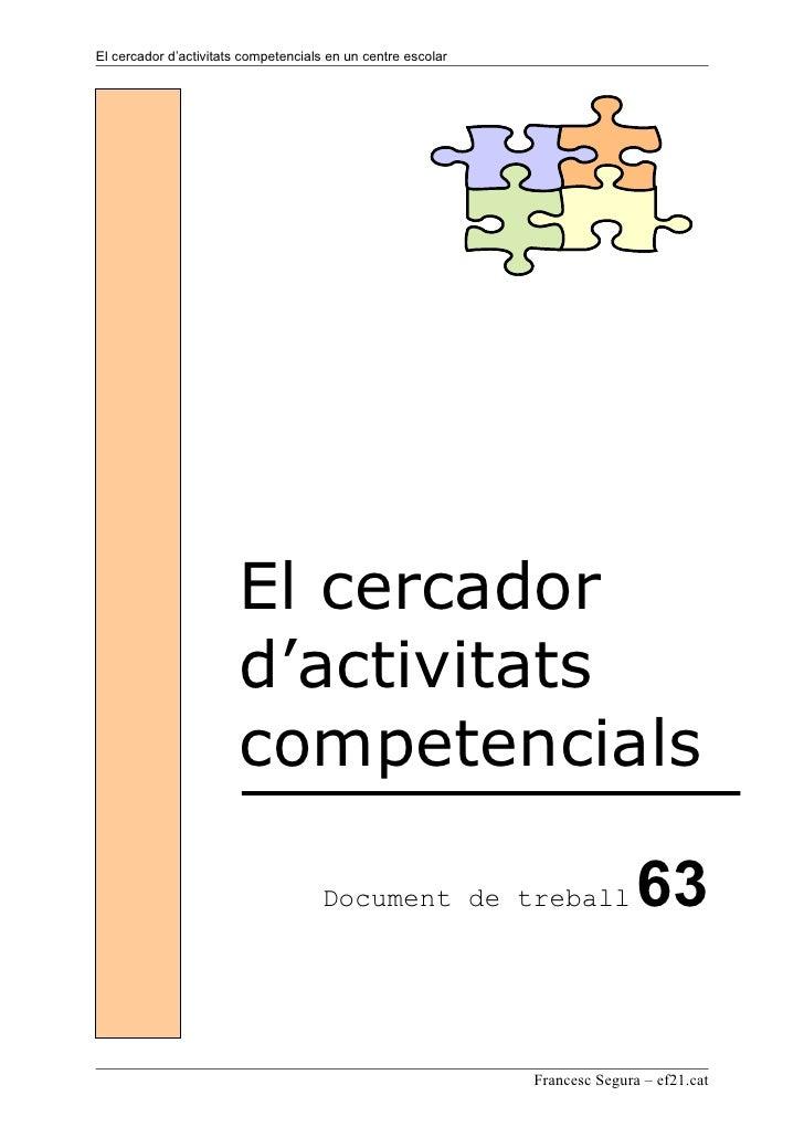 Dt63 El Cercador Dactivitats Competencials