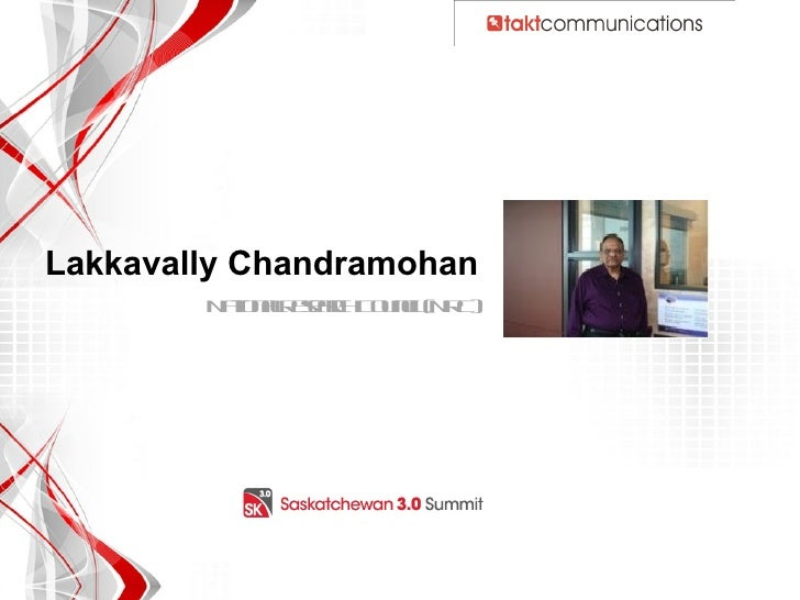 Sask 3.0 Summit Dtapp ppt Awareness_Clients_Lakkavally_Chandramohan