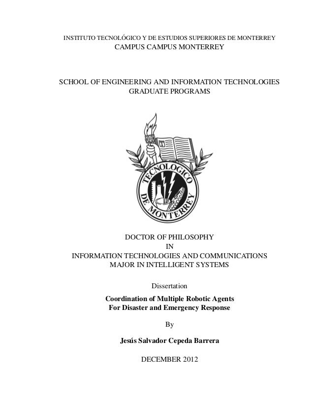 PhD Thesis - Coordination of Multiple Robotic Agents for Disaster and Emergency Response