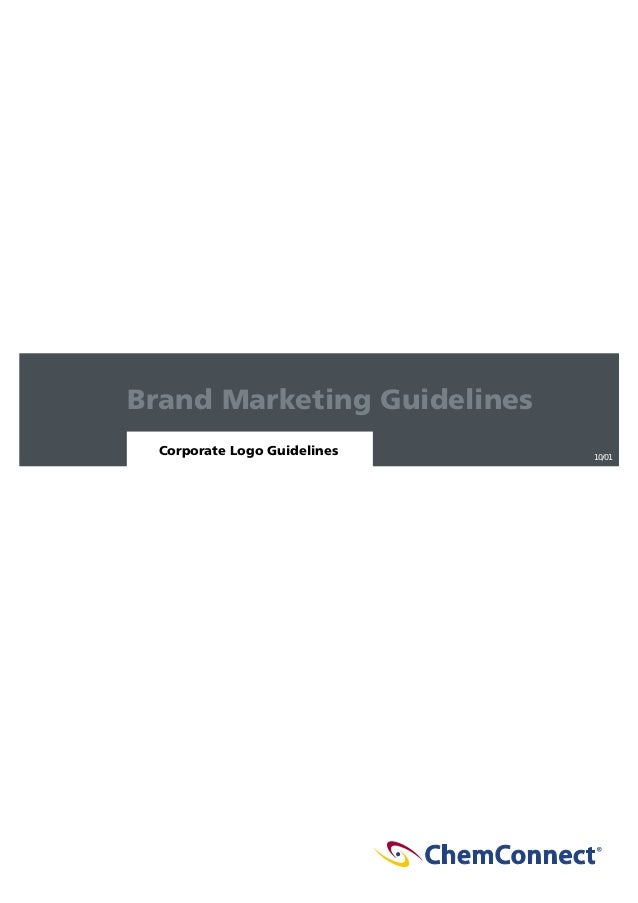 Brand Marketing Guidelines Corporate Logo Guidelines  10/01