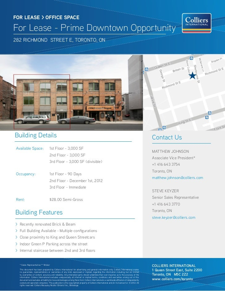 Downtown East Toronto august office space