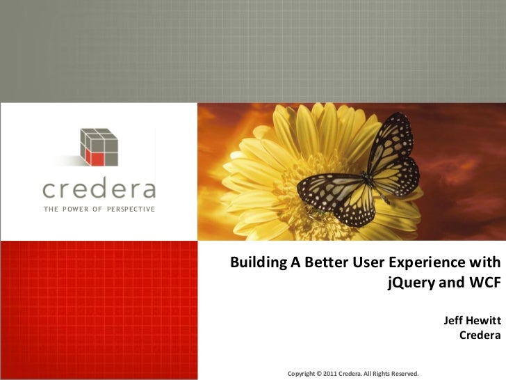 JQuery and WCF for a Better User Experience