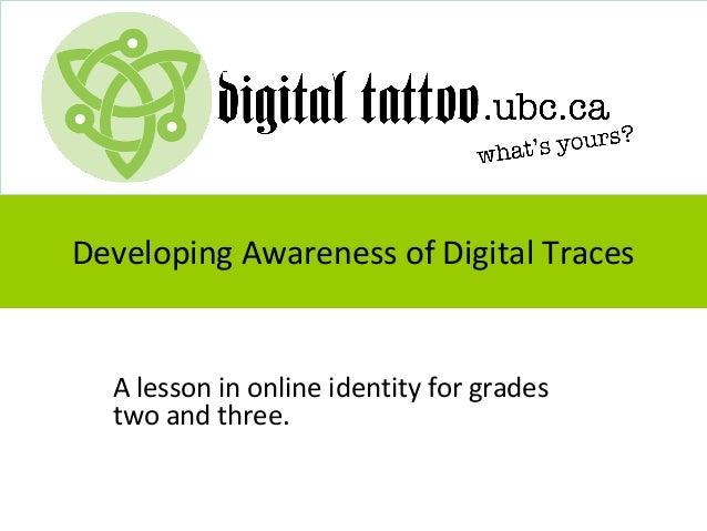 Digital Footprints for grades 2 and 3