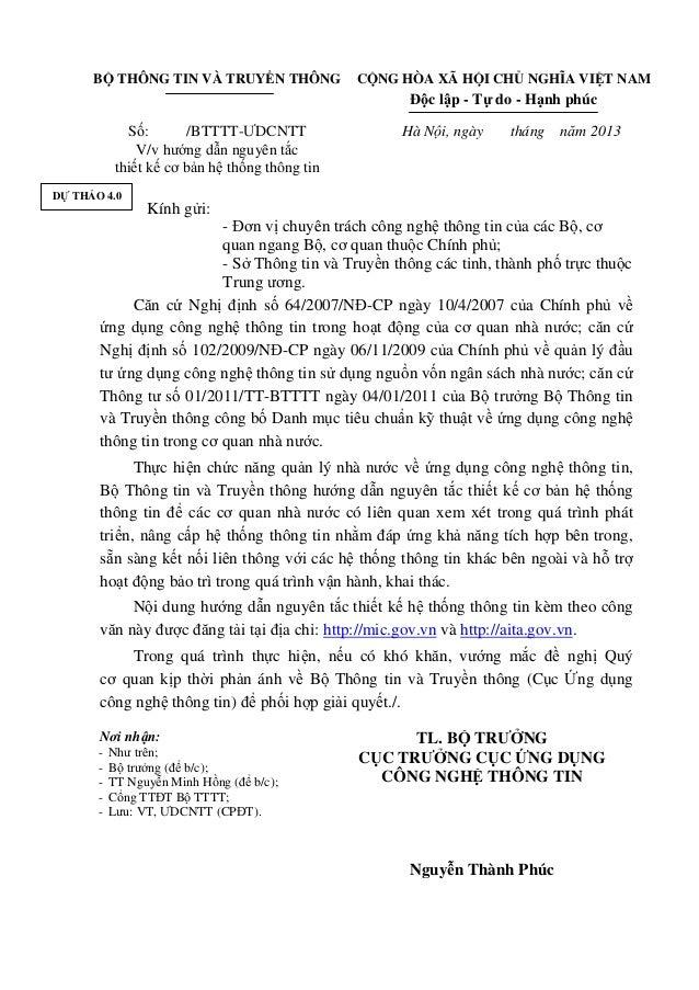 BỘ THÔNG TIN VÀ TRUYỀN THÔNG CỘNG HÒA XÃ HỘI CHỦ NGHĨA VIỆT NAM Độc lập - Tự do - Hạnh phúc Số: /BTTTT-ƯDCNTT V/v hướng dẫ...