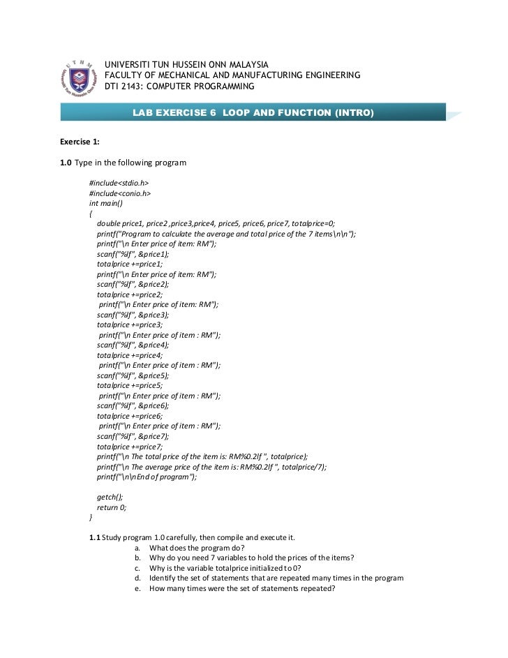 Dti2143 lab sheet 6