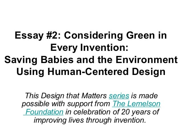 Green design essay