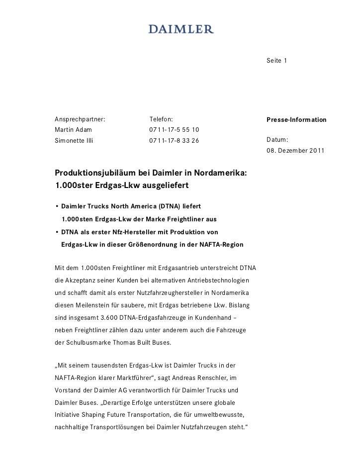 Seite 1Ansprechpartner:                Telefon:                              Presse-InformationMartin Adam                ...