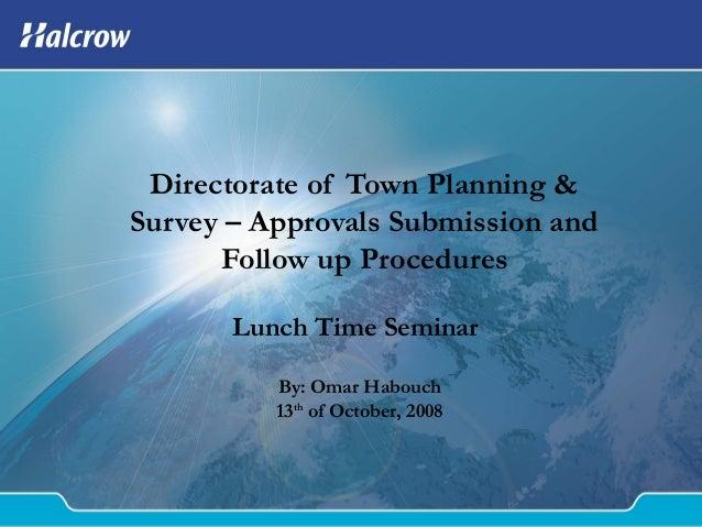 Dtp&s procedures guidelines seminar 13 10-08