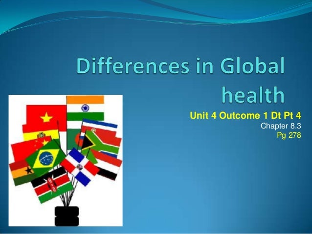 Dt pt 4 differences in global health factors   income and gender equality