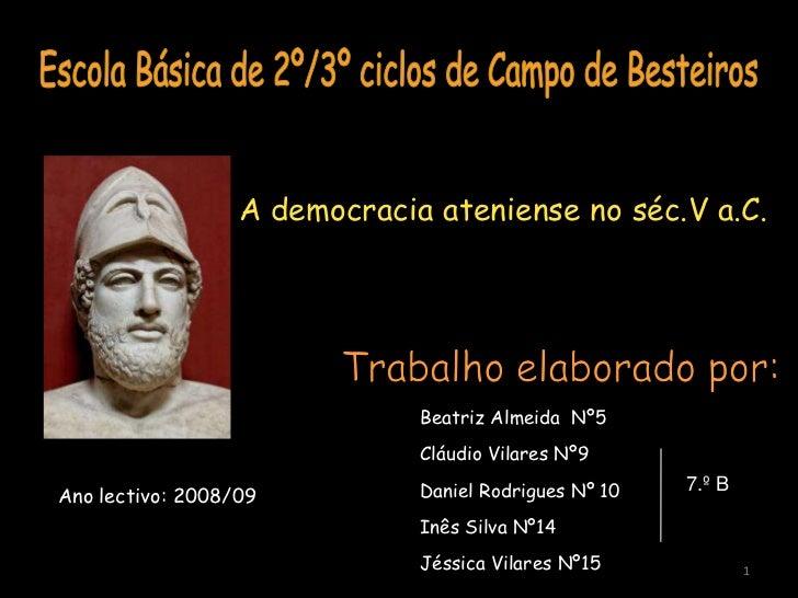 A Democracia Ateniense no séc. V a. C.