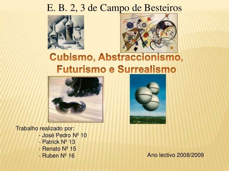 Cubismo, Abstraccionismo, Futurismo e Surrealismo