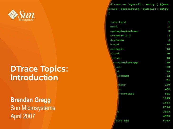 DTrace Topics: Introduction