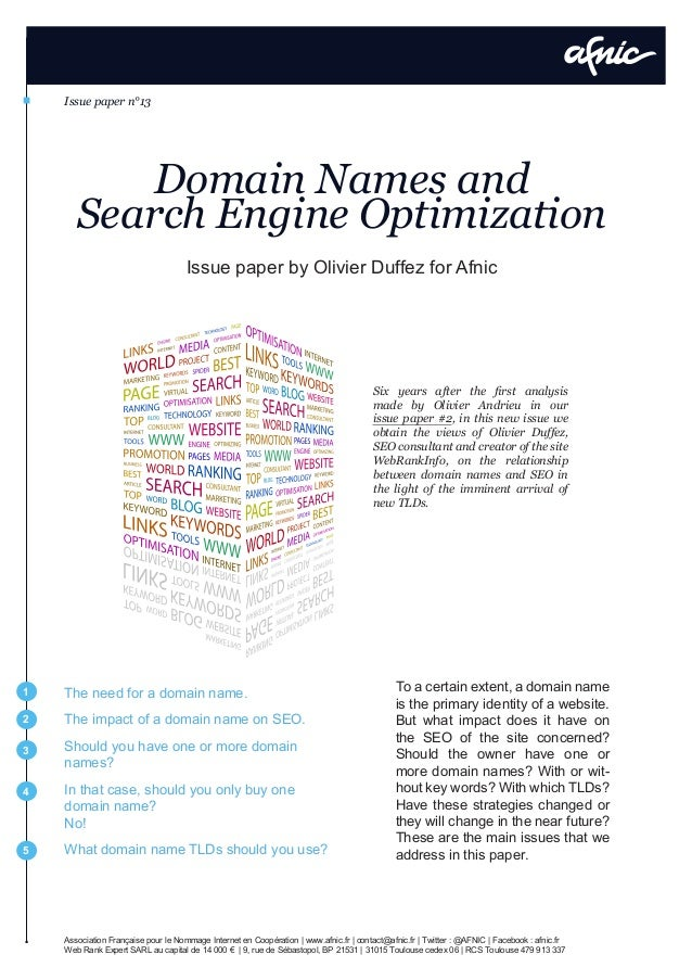 Domain Names and SEO (Search Engine Optimization)
