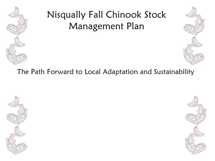 <ul><li>The Path Forward to Local Adaptation and Sustainability </li></ul>Nisqually Fall Chinook Stock Management Plan
