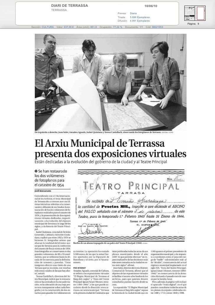 L'Arxiu Municipal de Terrassa presenta dues exposicions virtuals