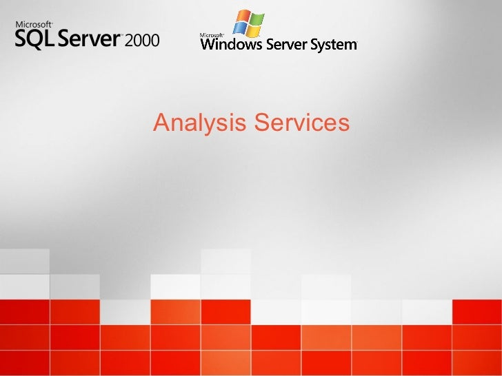 Dts y analysis services 2000
