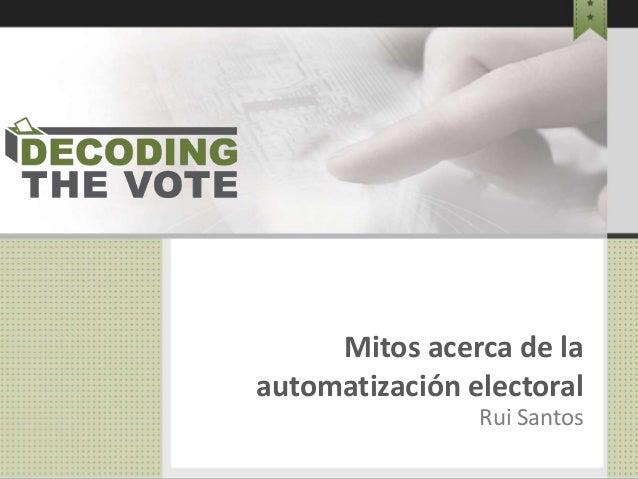 Mitos Voto Electrónico