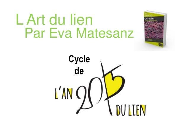 Par Eva Matesanz Cycle de L Art du lien