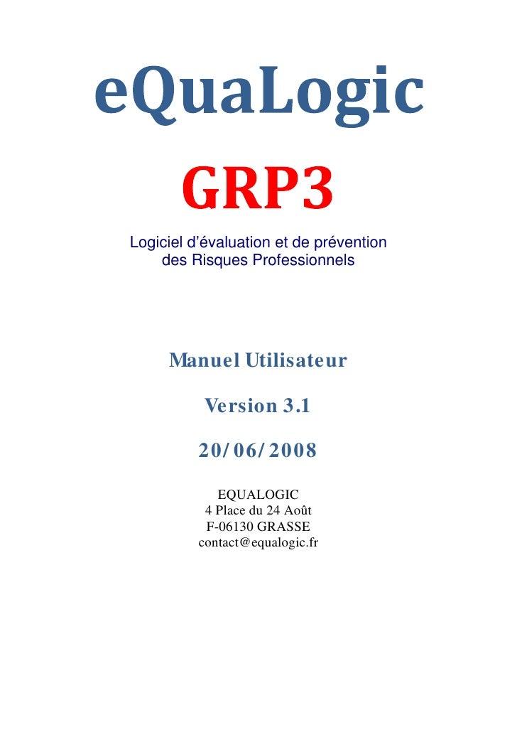 Logiciel d évaluation et de prévention    des Risques Professionnels     Manuel Utilisateur          Version 3.1          ...