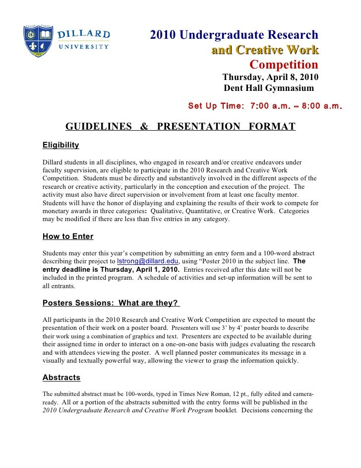 2010 Undergraduate Research                                                 and Creative Work                             ...