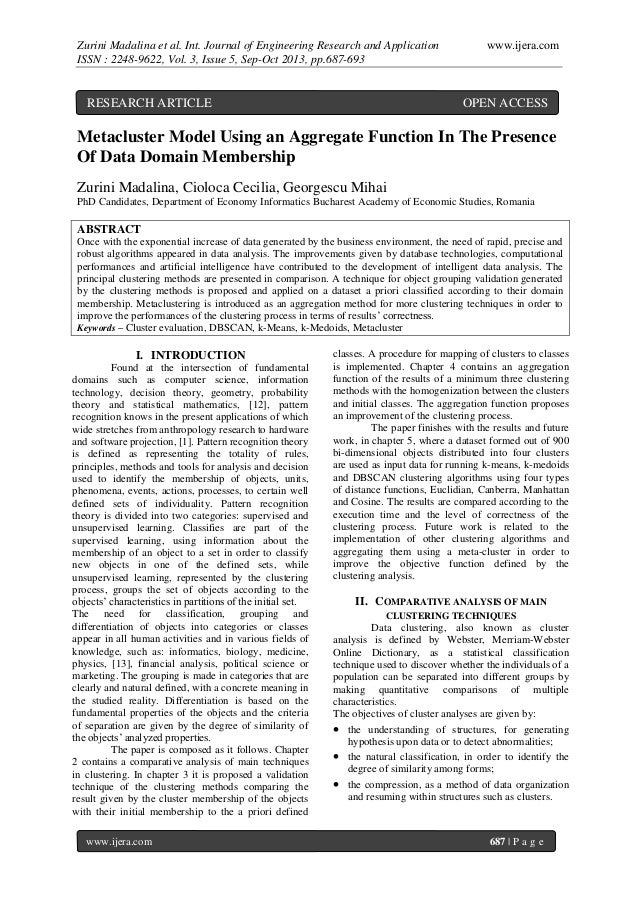 Zurini Madalina et al. Int. Journal of Engineering Research and Application ISSN : 2248-9622, Vol. 3, Issue 5, Sep-Oct 201...