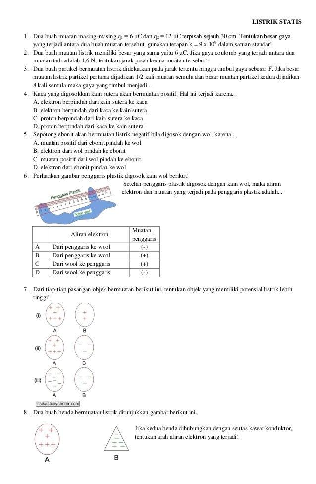 Latihan Soal Fisika Listrik Kelas Ix Smp