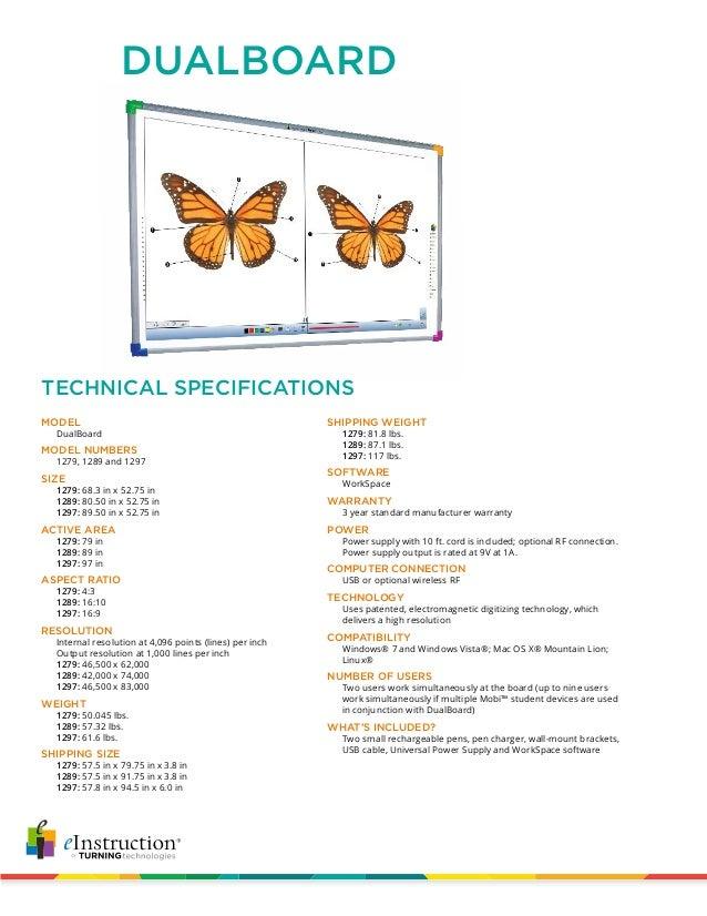 Dualboard techspecs