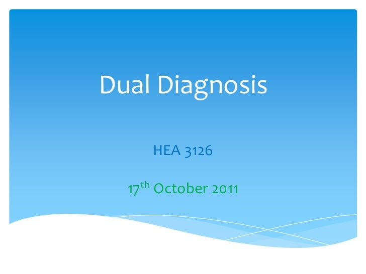 Dual diagnosis powerpoint