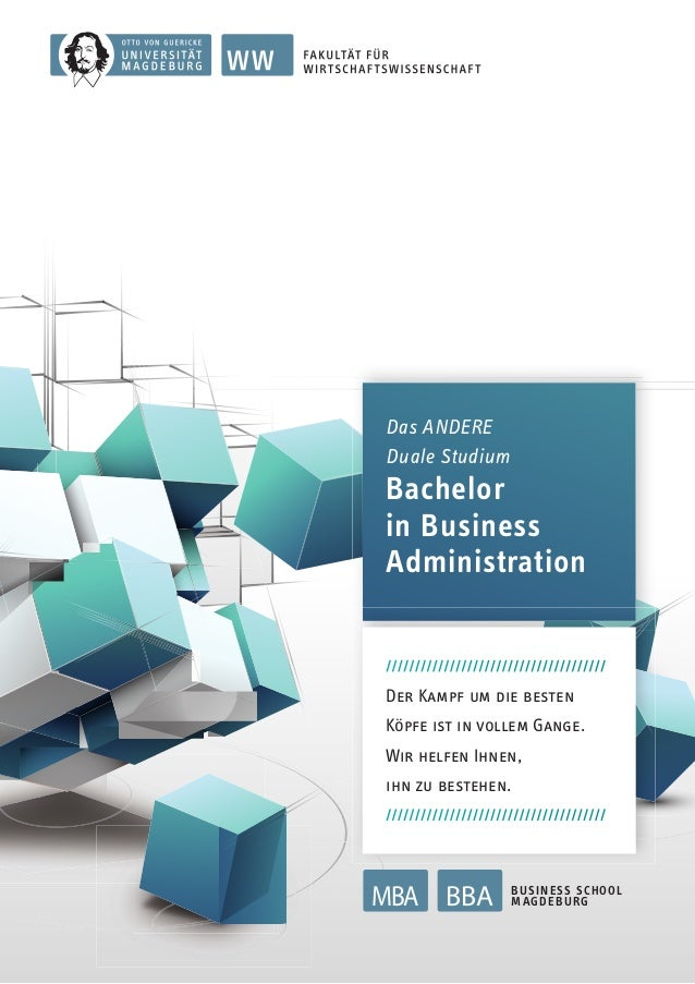Das ANDERE Duale Studium  Bachelor in Business Administration //////////////////////////////////////  Der kaMPF uM Die BeS...