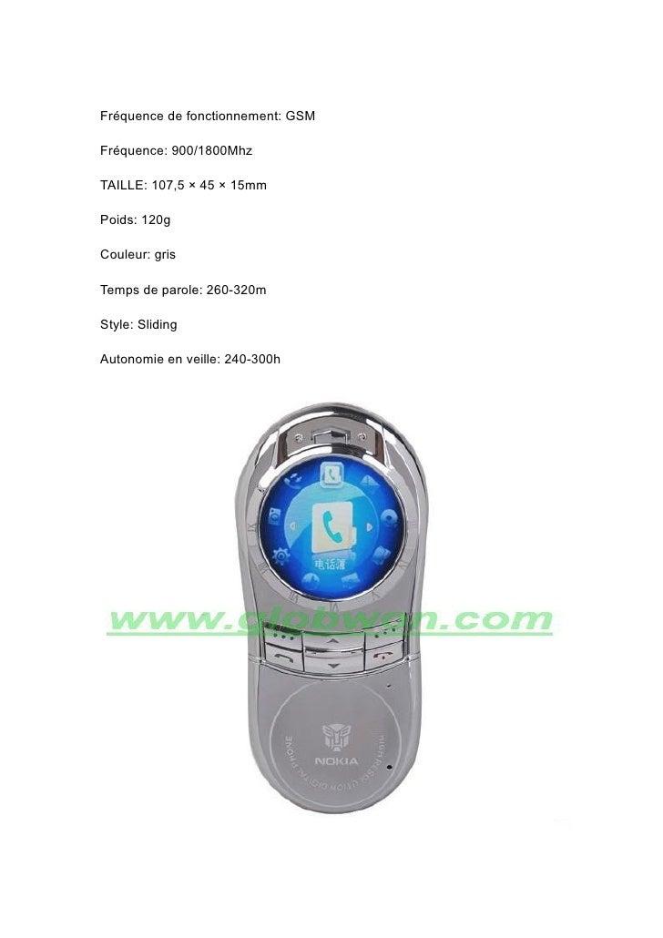 Fréquence de fonctionnement: GSM  Fréquence: 900/1800Mhz  TAILLE: 107,5 × 45 × 15mm  Poids: 120g  Couleur: gris  Temps de ...
