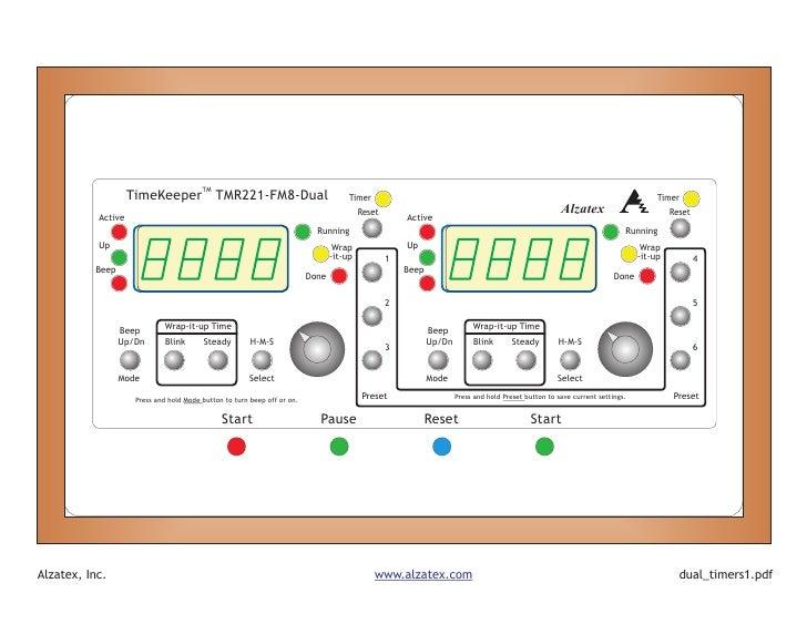 TM                     TimeKeeper TMR221-FM8-Dual                                        Timer                            ...