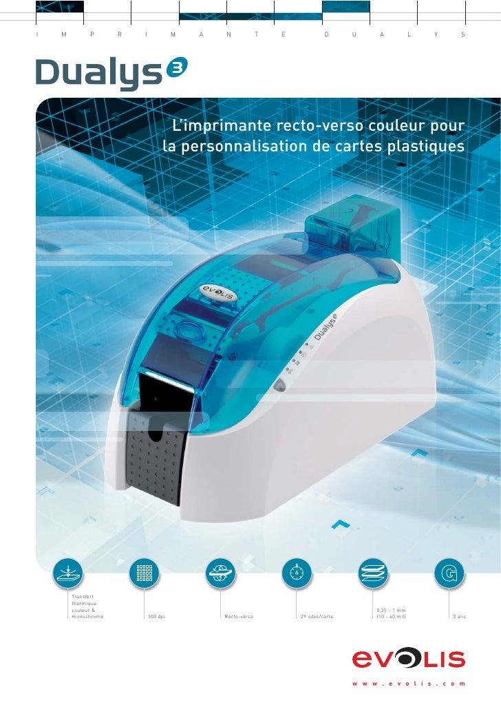 Imprimante Dualys 3 brochure fr