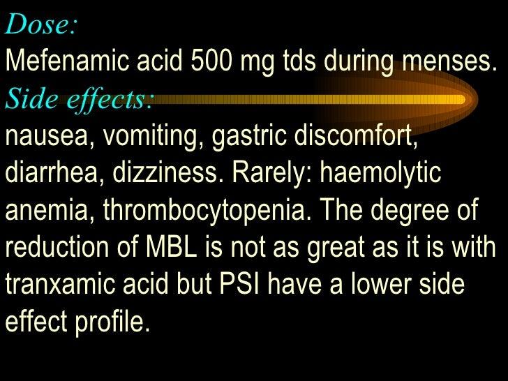 Mefenamic Acid Dose