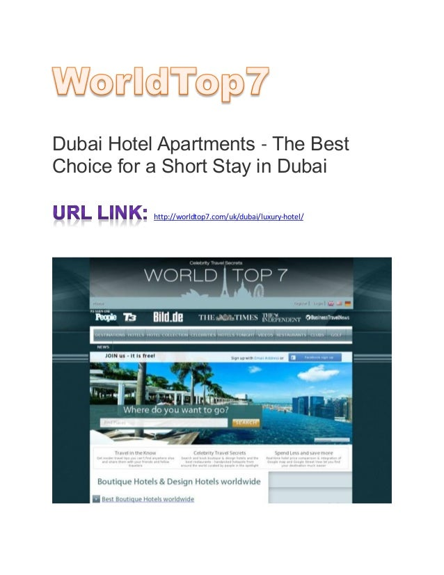 Dubai hotel apartments the best choice for a short stay for Best hotels in dubai to stay