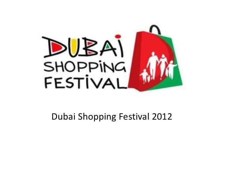 Dubai shopping festival 2012