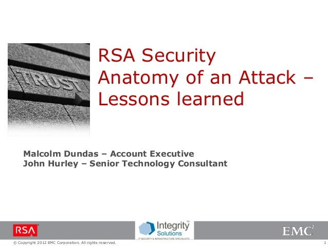 RSA Security                                            Anatomy of an Attack –                                            ...