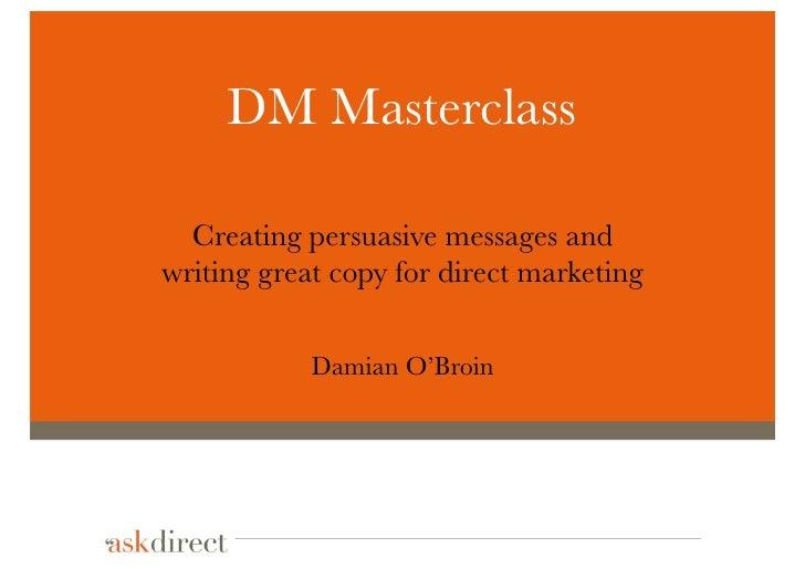 Direct Marketing Masterclass - Dublin