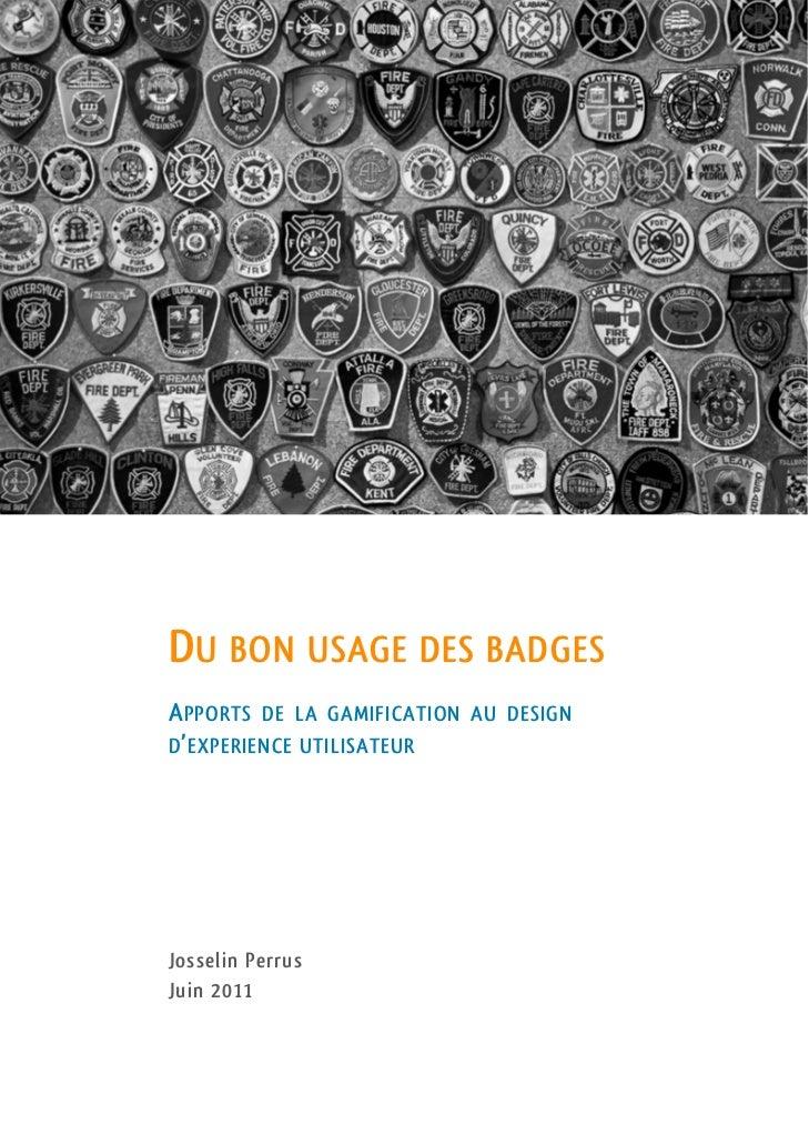 Du bon usage des badges - Essai sur la Gamification