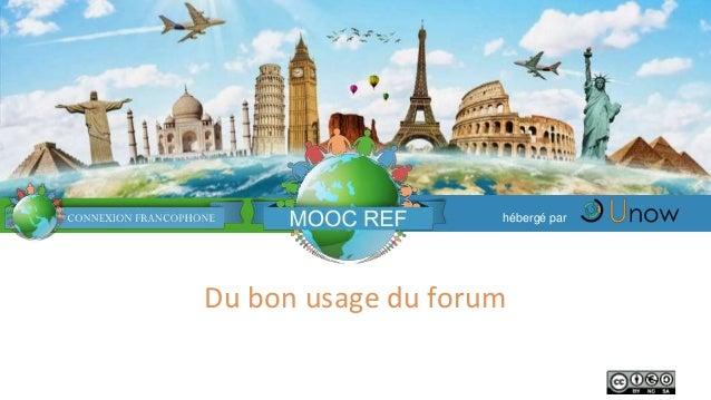 Du bon usage du forum hébergé par