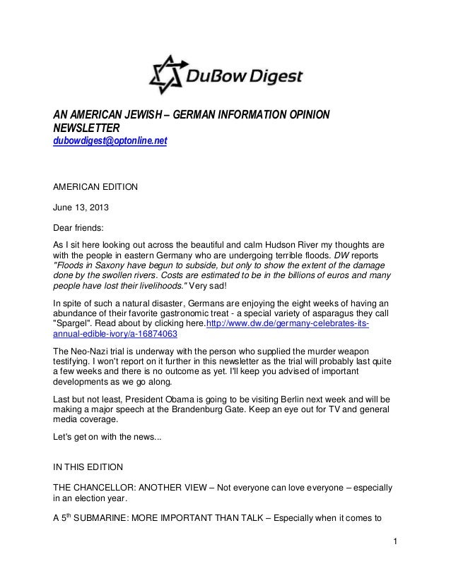 Du Bow Digest american edition june 13, 2013