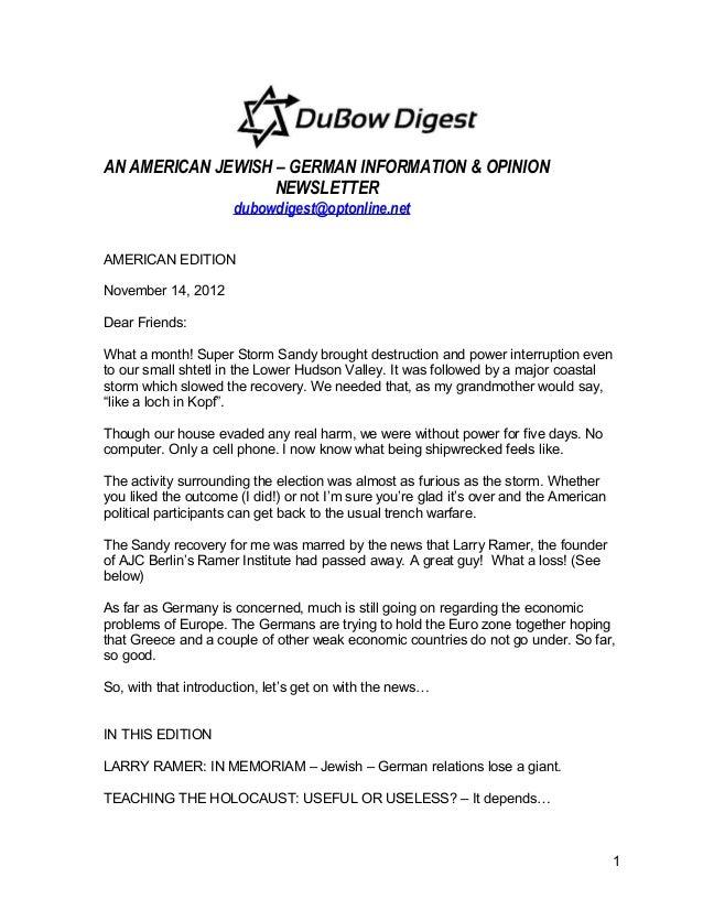 DuBow Digest american edition nov. 14, 2012