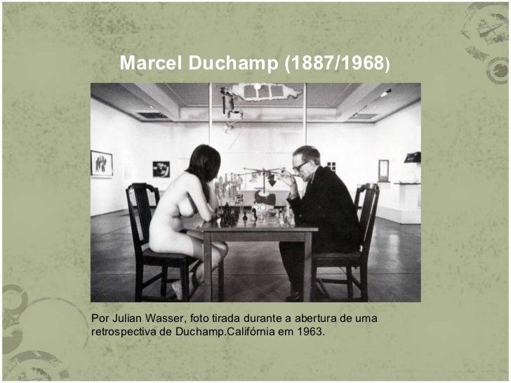 Marcel Duchamp (1887/1968 ) Por Julian Wasser, foto tirada durante a abertura de uma retrospectiva de Duchamp.Califórnia e...