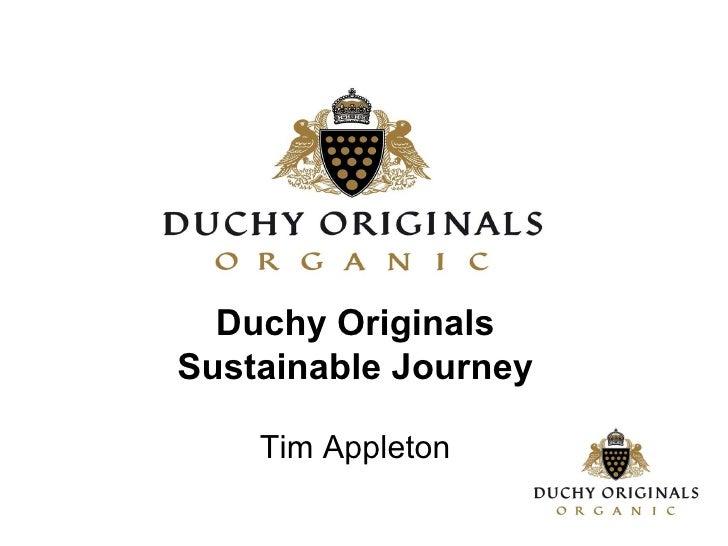 Duchy Originals Sustainable Journey