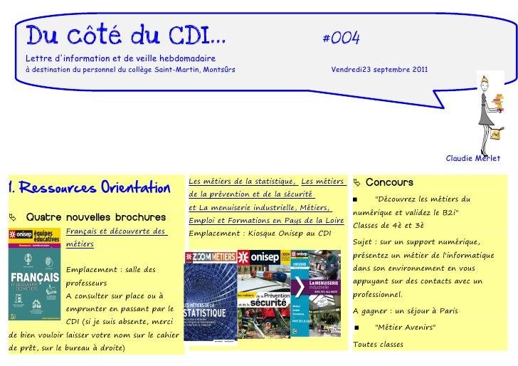 Du côté du CDI...                                                                  #004    Lettre dinformation et de veill...